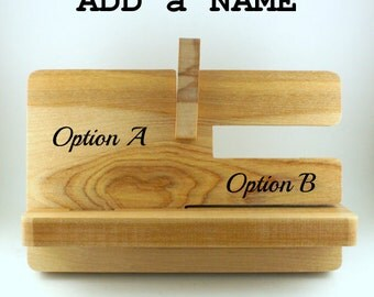ADD a NAME to your PHONESTAND, Docking Station Add-On, stand not included