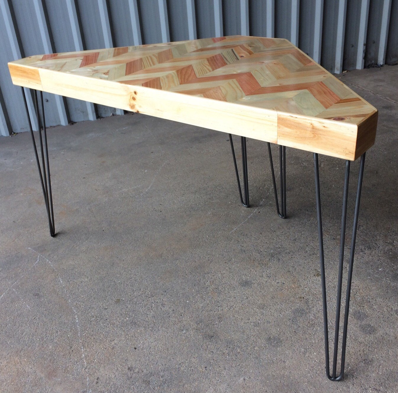 Corner Table Corner Desk Modern Coffee Tables Upcycled Wood