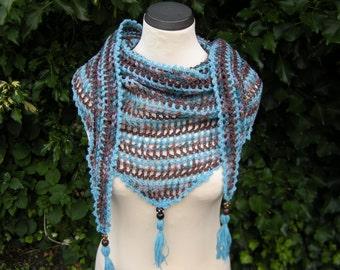 Triangle shawl stole scarf tassel scarf with tassels
