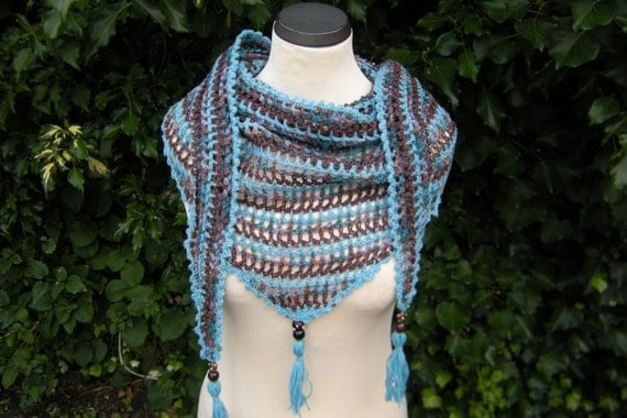 Triangle shawl stole scarf tassel scarf with tassels