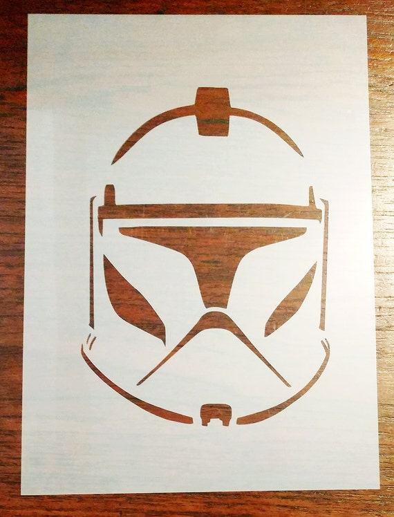 Clone trooper star wars stencil mask reusable mylar sheet for Star wars arts and crafts