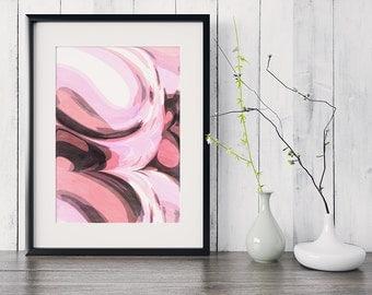 Abstract Wall Art Art Pink Abstract Art Prints Wall Art Prints Print Abstract Print Art Print Pink Wall Art Gallery Wall Print Gallery Print