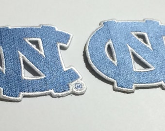 North Carolina Tar Heels Embroidered Iron on patches Choose from 2 different sizes