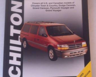 Vintage Chilton Repair Manual, Chrysler, Caravan/Voyager/Town & Country, 1984-95, All U.S. and Canada Models, Service Repair Manual