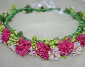 Christmas crown Bridal flower headband Wedding flower crown Flower girl wreath Mexican flower crown Bridal floral crown Mexican headpiece