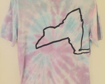 New York State DIY Grunge Tie Dye Shirt - MEDIUM