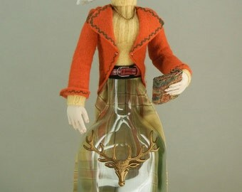 Equestrian, Art Doll, Bottle Doll
