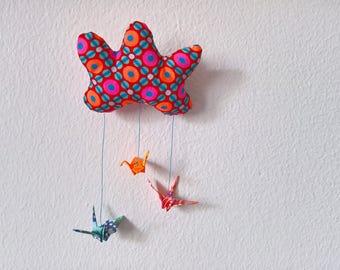 Magnet cloud fabric Petit Pan and origami cranes