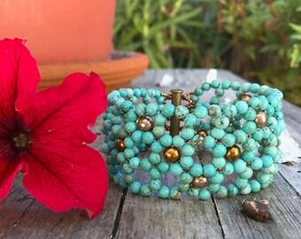 Southwest Beaded Cuff Bracelet