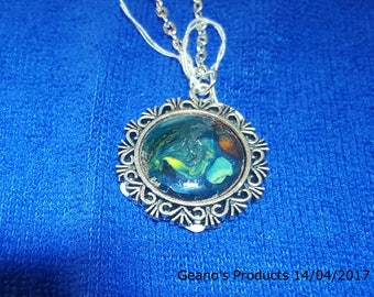 "Colourful "" Water Blue "" 20 mm Pendant"