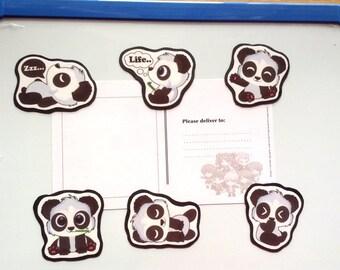 Cute Panda Magnets, Panda fridge magnets, panda magnets, fridge magnets, handmade magnets, animal magnets, refrigerator magnets, cute magnet
