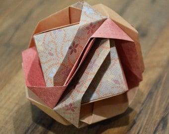 Japanese Brocade, Color, Modular Origami, Unique Decoration, Home Accent