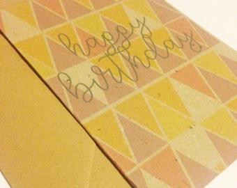 Geometric Happy Birthday Card