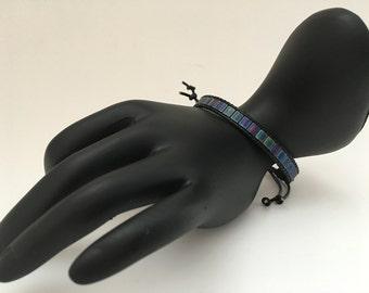 Tila beads leather bracelet