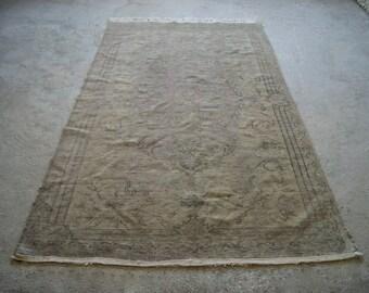 6'x10' Large Area Rug, Vintage Oushak Carpet, Rustic Rug