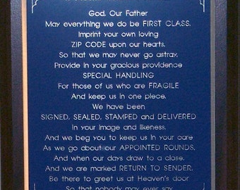 Postal Worker's Prayer Plaque - Can be Personalized - Makes a Wonderful Gift !