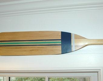 Hand Painted Decorative Canoe Paddle Oar Wall Art - The Green Heron- wood canoe paddle, nautical, decor, rustic, lake,decor,wall hanging