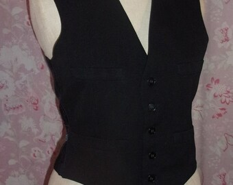 A vintage black vest for men