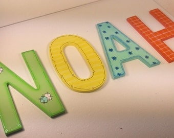 Decorative, hand-painted letters - Nursery, children