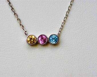 Birthstone Necklace, Birthstone Necklace For Mom, Family Birthstone Necklace, Custom Birthstone Necklace, Jewelry For New Mom, Mom Necklace