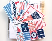 Sail Away Weekly Kit (stickers for Erin Condren Life Planner - Vertical)