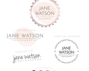 Logo Design, Premade logo, Custom Logo, Photography logo, Business logo, Branding package, Logo photography, Watercolor Logo, Watermark 41