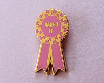Prize Ribbon Enamel Pin