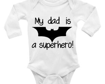 My Dad Is A Superhero. Father's Day Onesie. Baby Creeper. Bodysut. Boy. Girl.