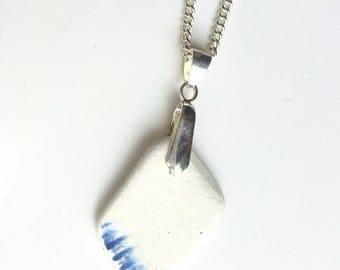 Beach Pottery Necklace, Sea Pottery Necklace, Seaside necklace