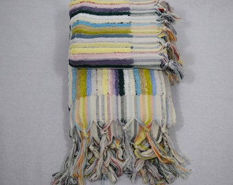 Handwoven Bath Towel - 100% Organic Turkish Cotton - Bright and colourful