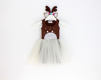 Kids Costume, Deer Costume, Girls Dress Up, Kids Halloween Costume, Girls Costumes, Toddler Costume, Children Costume, Tutu Costume