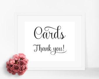 Wedding cards box sign, cards box sign, wedding sign, wedding decor, card box, wedding reception, wedding printable, wedding cards sign