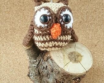 Crochet Owl Keyring Miniature Crochet Owl Bag Charm Amigurumi Owl Keychain