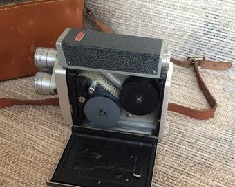 Kodak Brownie Turret Movie Camera Exposure Meter Model and Camera Case