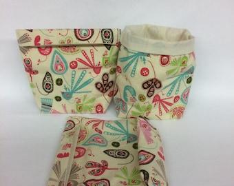 Reusable Snack Bag, Reusable Sandwich Bag, Sandwich Bag, Snack Bag, Lunch Bag, Eco Friendly, Snack Sack, Adult Sandwich Bag,