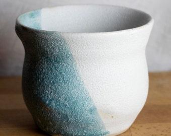 Asymmetrical Blue and White Handmade Bowl
