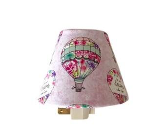 Hot Air Balloons Night Light-Kids Room-Pink Night Light-Nursery Night light-Baby Girl Room-Girls bedroom -Wall Decor