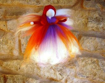 wool angel doll Waldorf felt fairy wool kid toy eco friendly Christmas angel Steiner angel felted wool fairy Christmas fairy lovers toy UK