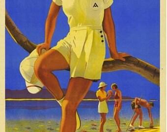 Vintage Australia Great Barrier Reef Tourism Poster A3 Print