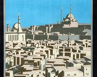 Vintage Egyptian State Railways Cairo Poster A3 Print