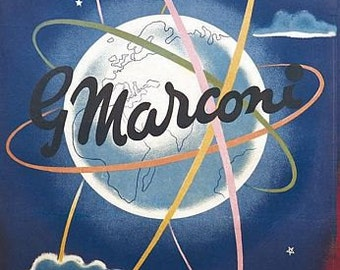 Vintage Marconi Advertising Poster  A3 Print