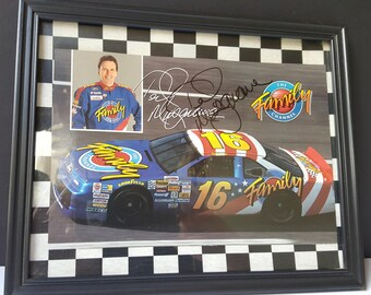 NASCAR Driver Autograph, Ted Musgrave Signed Photo, Ted Musgrave Signature Picture, Racing Collectible, Sports Memorabilia