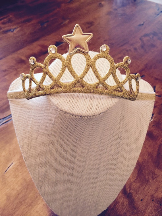 Princess crown, birthday party crown, first birthday crown, gold crown baby headband, princess party, crown headband, princess headband