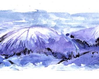 Purple Mountains Bookmark