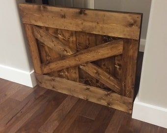 Baby Gate, Barn Door Baby Gate, Wood Baby Gate