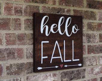 Fall Decor- Hello Fall Sign