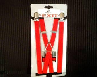 """Skinny Red Suspenders - 1/2"""""""