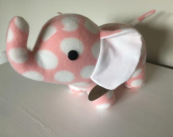 Pink and white elephant