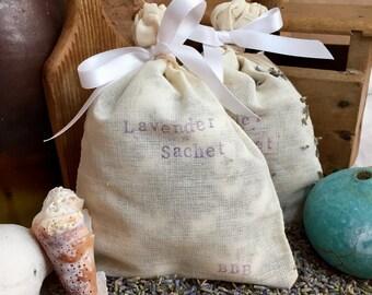French Lavender Drawer Sachet, Organic Cotton Sachet, Sleep Sachet, Soft Sachet, Relaxing Sachet