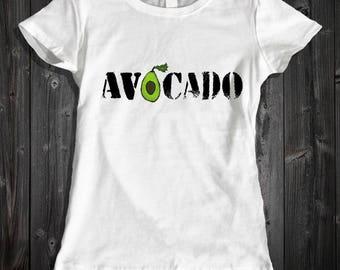 Avocado Shirt Women's Clothing - Avocado Women's Graphic T-Shirt - Avocado Art Shirt Cute Art Women's Printed Shirt - Cute Avocado Shirt